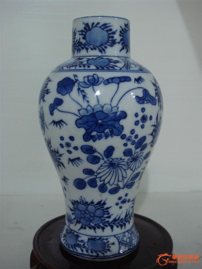 清代青花瓶 美品 图2