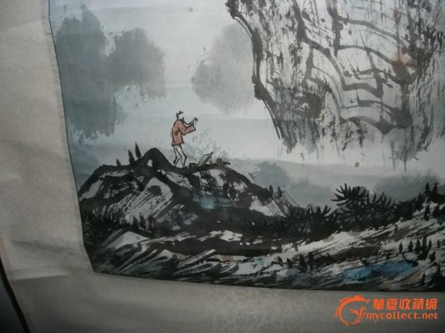 龙凤墨柱 龙凤墨柱 中国国家画院龙瑞山水工作室成员萧杰作品《游春图