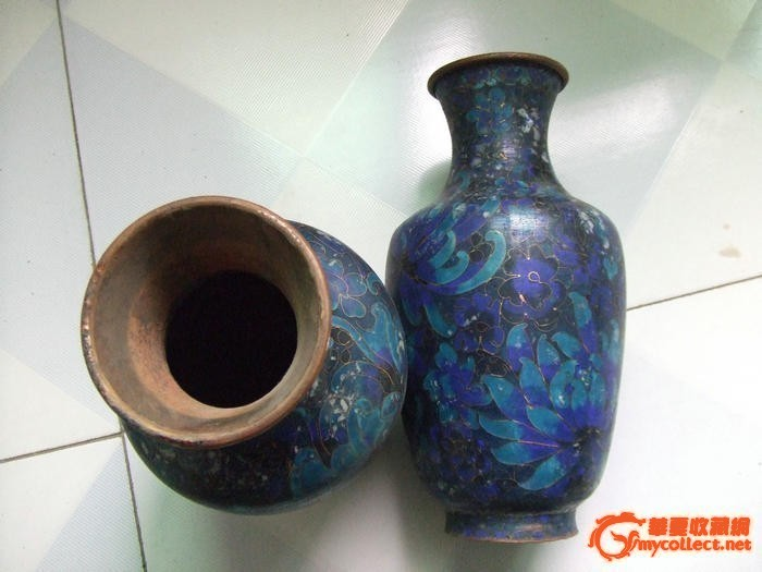 民国景泰蓝花瓶一对