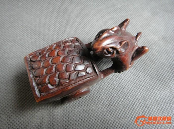老黄杨木雕件--老鼠转运