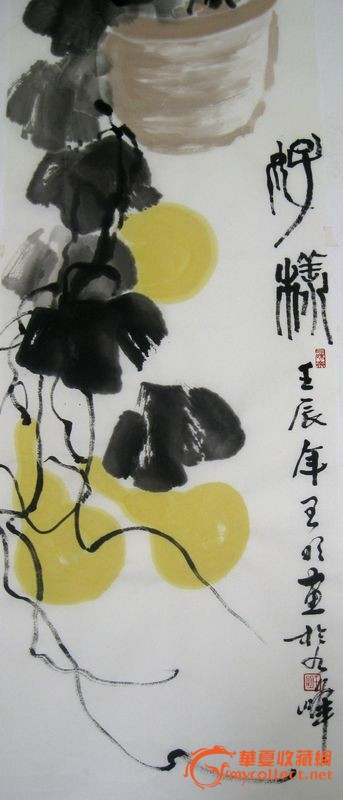 写意字画花鸟葫芦