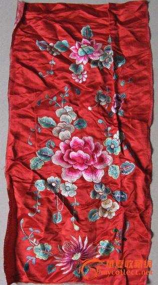 牡丹菊花刺绣