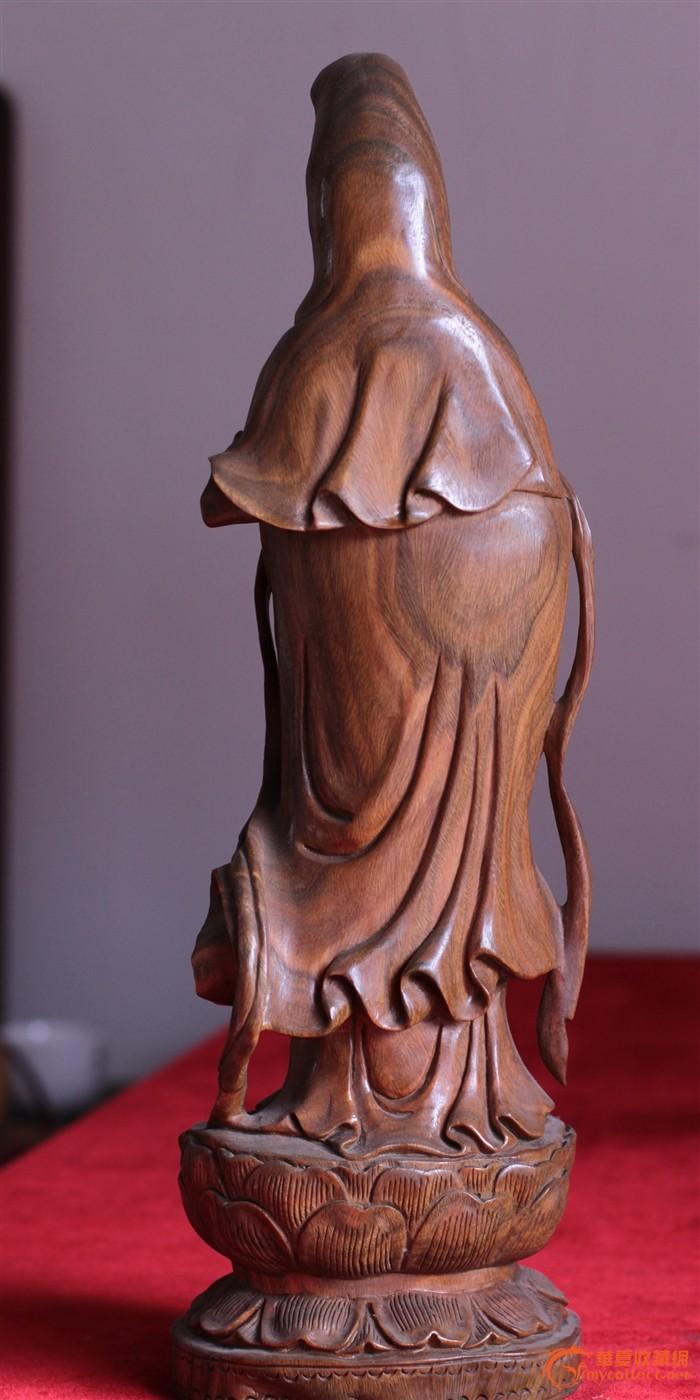 木雕观音像