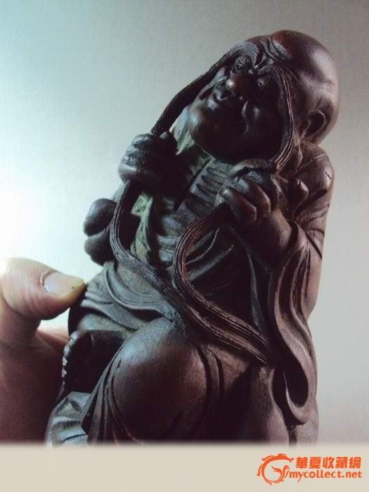 威风凛凛的武财神关公(木雕精品)