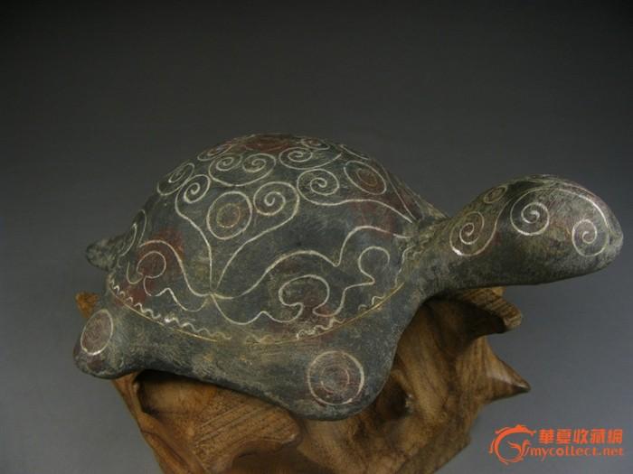 汉代.错金银卷云纹饰青铜大龟随葬器