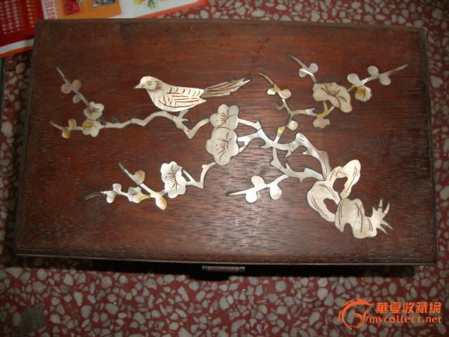 有贝壳雕花木盒